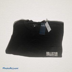 Hollister Long Sleeve Crew Pocket Tee Embroidered